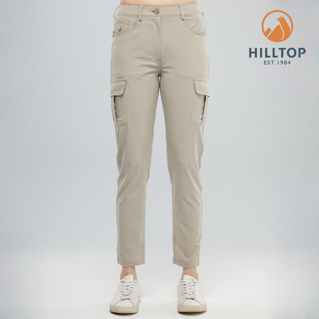 【hilltop山頂鳥】女款吸濕快乾彈性涼感長褲 S07FI3 冷凍卡其