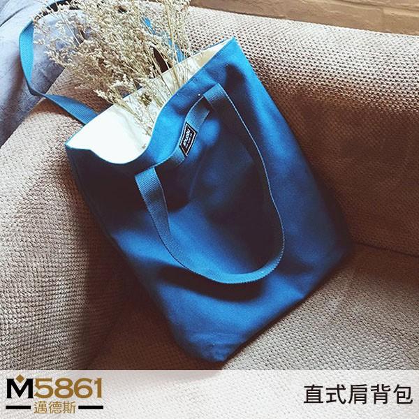 【帆布包】純棉 SHUOBU 帆布袋 側背包 肩背包/肩背+手提/靛藍