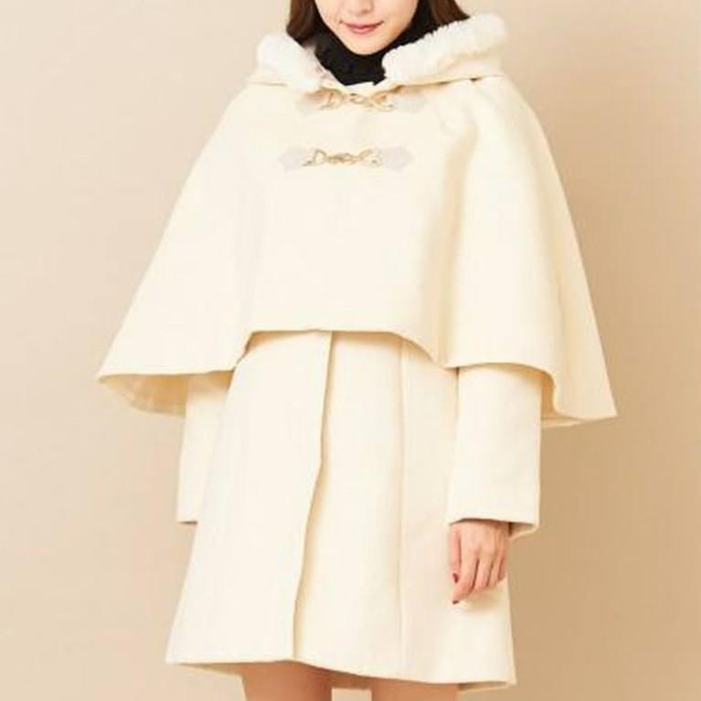 titty&Co.【Y9384-004】兩件式斗篷大衣(2色)