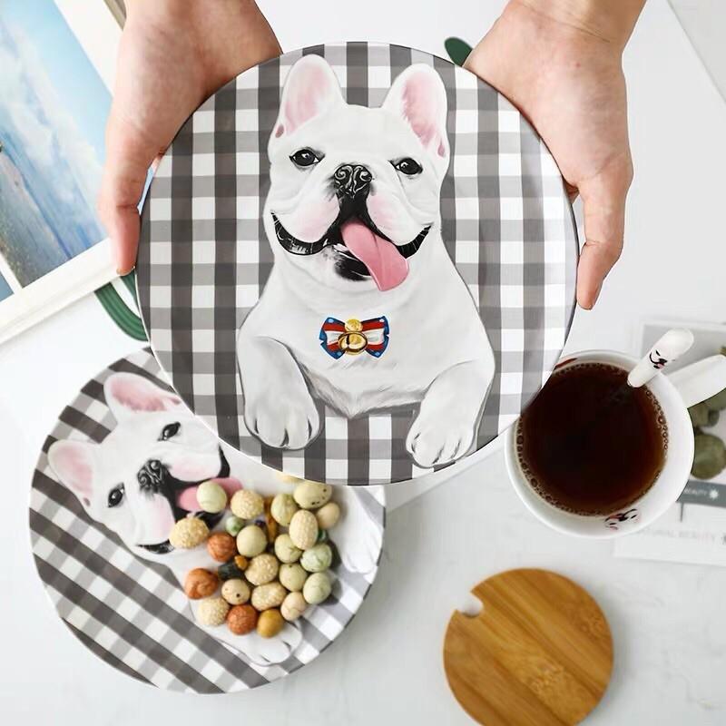 <預購>法鬥陶瓷家用裝飾盤 甜點盤點心盤 陶瓷餐具