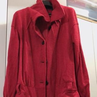 氣質款立領造型毛料外套(紅色) 臺南市