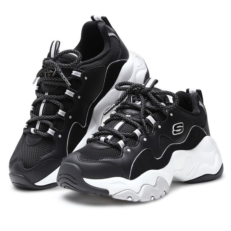Skechers D'lites 3.0 女款 黑白 老爹鞋 12955/bkw