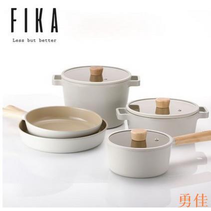 勇佳#[Neoflam] Fika 不沾感應平底鍋組 (5件)(3個鍋+ 2個鍋)