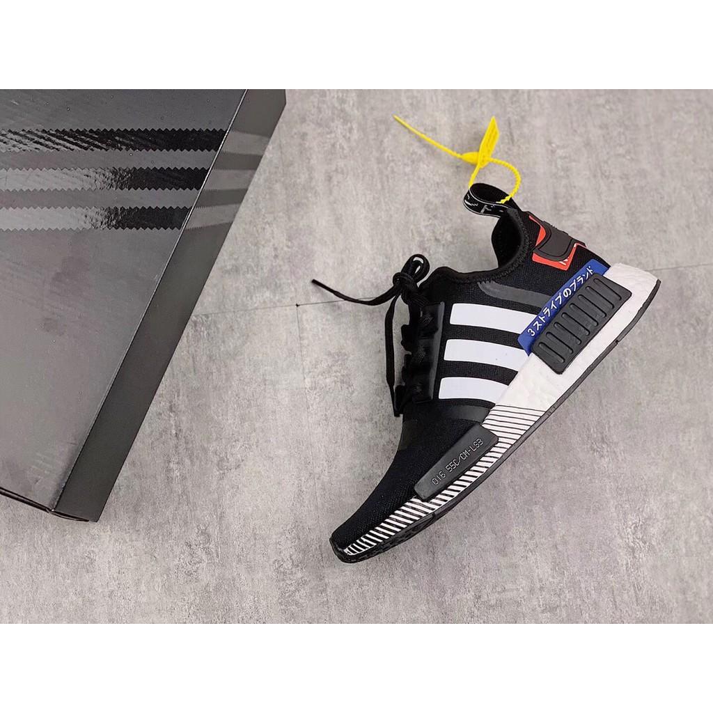 ADIDAS NMD R1 黑白  男鞋 boost EF1734