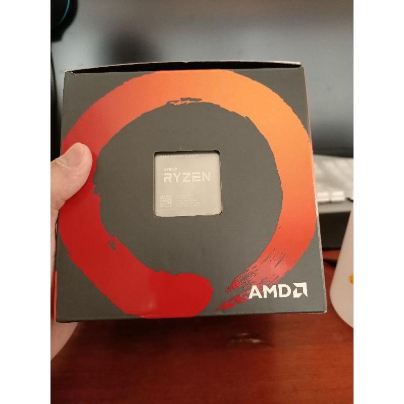 AMD R5 2600+B450M 半套電腦 完整盒裝