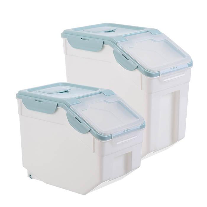飼料桶 北歐風密封儲存桶 超大容量寵物飼料桶(贈量杯) 乾糧桶 飼料食物密封罐  糧食桶 米桶 密封桶 寵物零食桶
