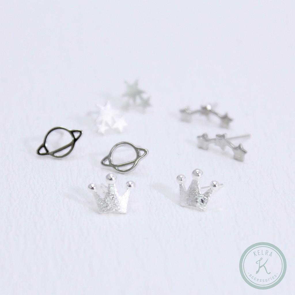 【KELRA】925銀耳針可愛小耳環耳夾