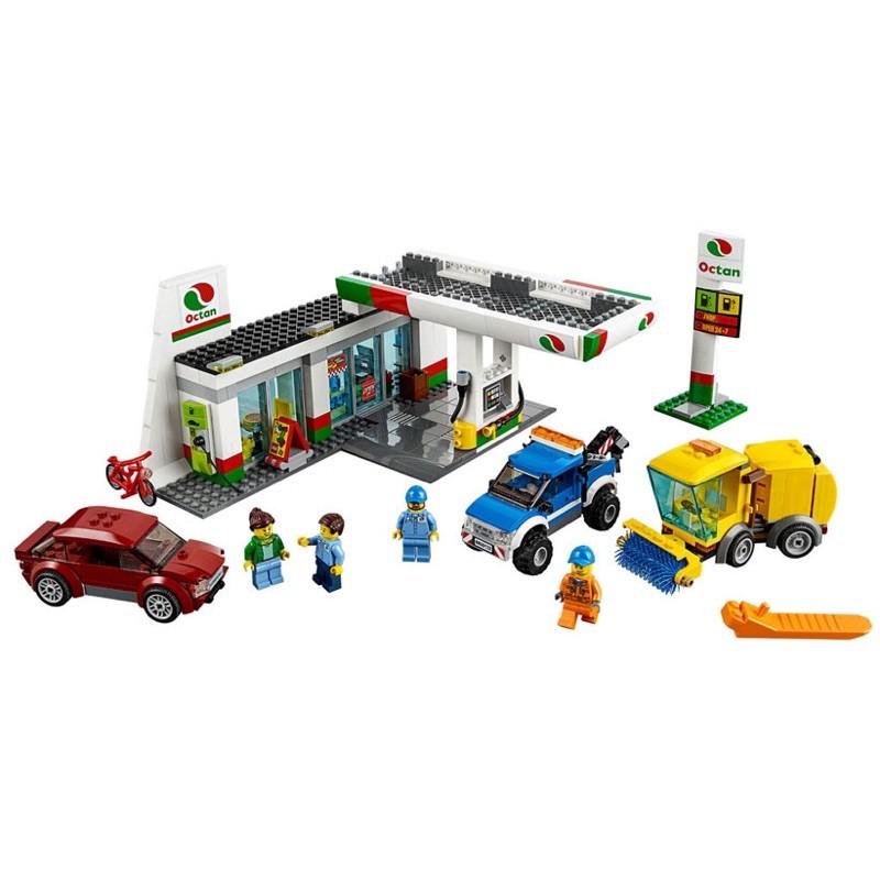 [二手]LEGO 樂高積木 CITY 城市系列 #60132 加油維修站Service Station