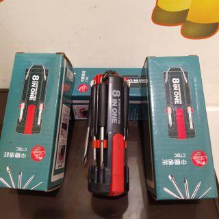 🎆 百寶袋 🎆 8合一多功能螺絲起子工具組 6LED手電筒 新北市