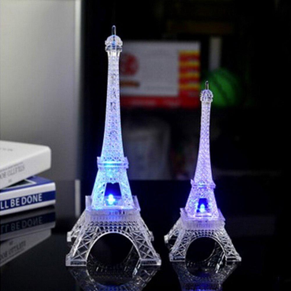 埃菲爾鐵塔LED變色發光小夜燈 七彩變色鐵塔造型 3D鐵塔小夜燈 情人節浪漫禮品 家居擺設