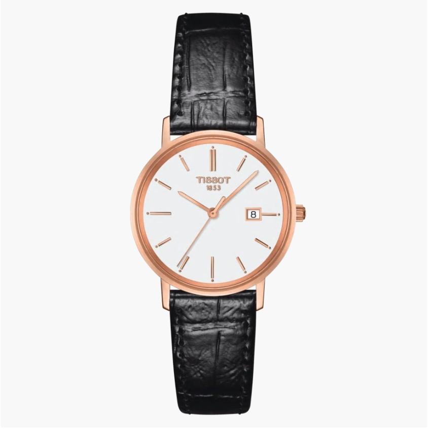TISSOT天梭 T9222107601100 / 18K玫瑰金石英錶