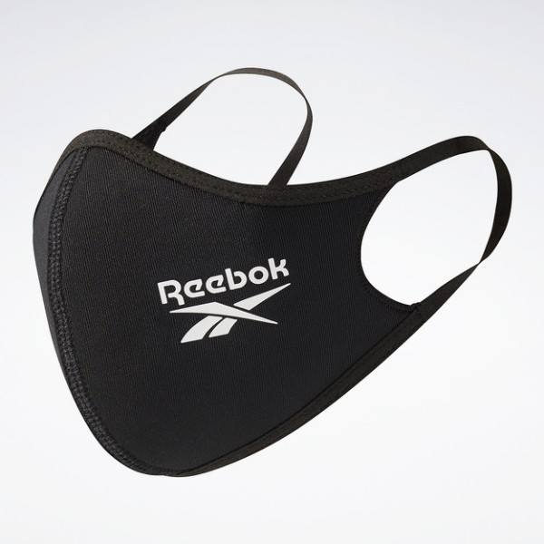 Reebok 口罩 三入裝 男/女 非醫療 彈力繞耳設計 黑色 H18222