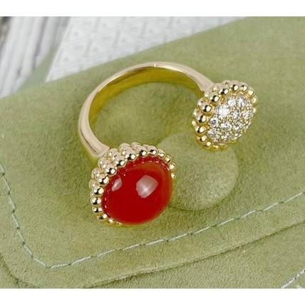 Van Cleef&Arpels梵克雅寶 VCA 鑽石 紅玉髓 Perlée couleur戒指