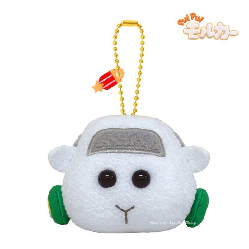 天竺鼠車車【 TW SAS 日本限定 】PUI PUI 天竺鼠車車 Shiromo 珠鍊吊飾 玩偶娃娃 