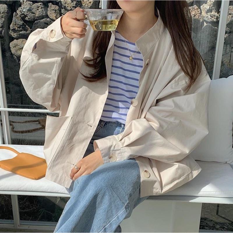 New上市✨韓國歐膩最愛外套正韓空運風衣男友外套 共二色