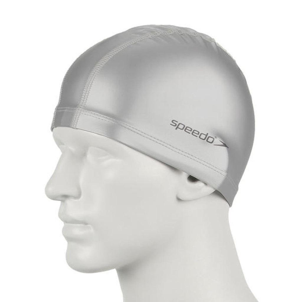 speedo 成人合成泳帽 ultra pace cap 銀色