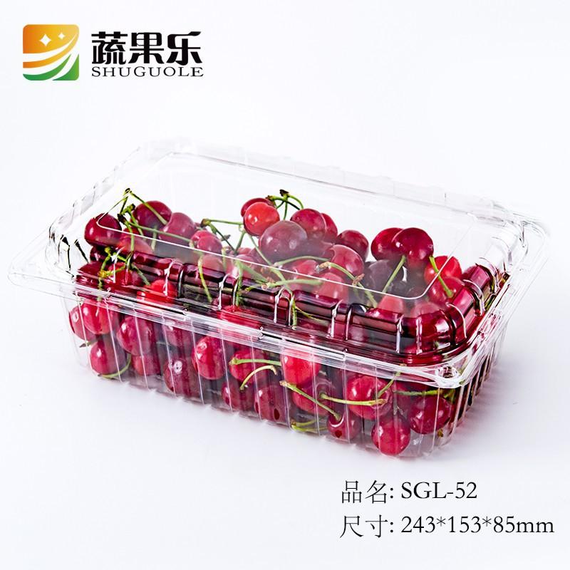 【牛年熱銷】蔬果樂52一次性加厚抗壓一公斤草莓櫻桃盒車厘子水果吸塑包裝盒