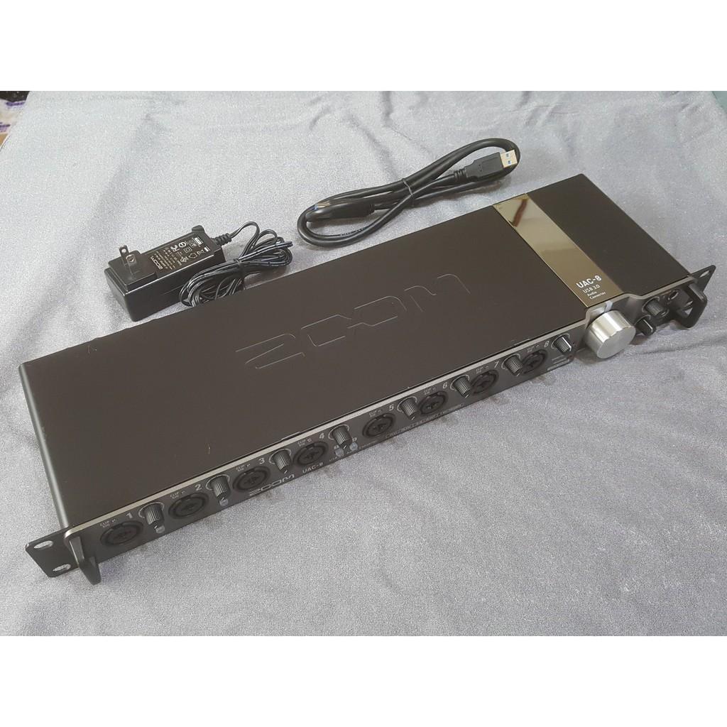 【二手良品】ZOOM UAC 8 USB3.0 192K高品質 電腦錄音介面 錄音卡 18 in 20 out