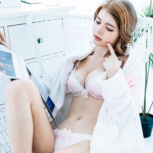 FLORA LOVELY 棉花恬1 B-F罩杯日本內衣成套(粉)