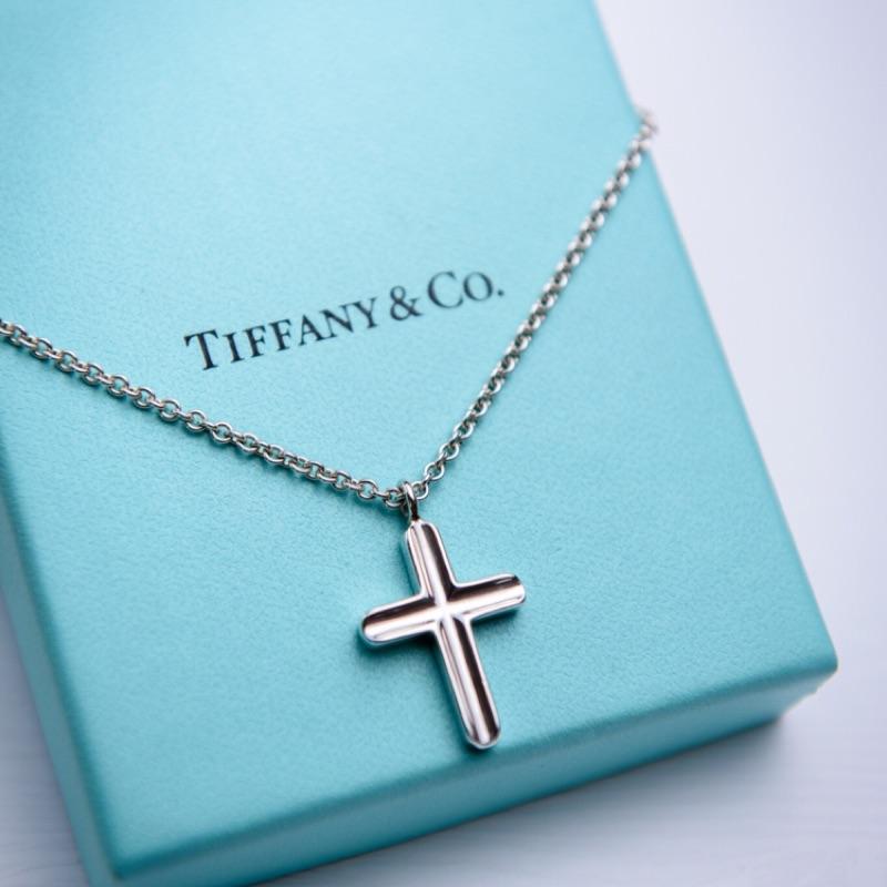 Tiffany & CO. 十字架純銀項鍊
