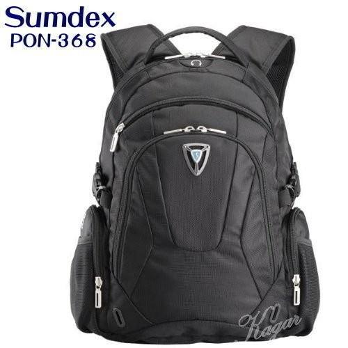 Sumdex多功能筆電後背包 15.6吋 附雨衣套電腦包 PON-368 加賀皮件