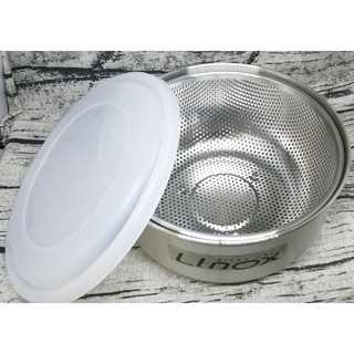 Linox天堂鳥多功能瀝水籃18CM 保鮮盒 兩用附蓋 316不鏽鋼 保鮮盒 洗米盆 洗菜盆 瀝水盆 新北市