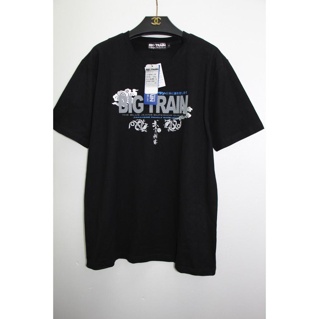 vivi2014246保留  全新牛仔專櫃品牌 BIG TRAIN 武青剌客印花棉T 上衣 男款 L 原價1380