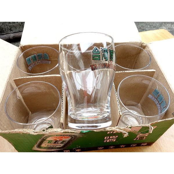 台灣啤酒杯 曲線杯 現貨六入 果汁杯 飲料杯 玻璃杯 酒杯 杯子 杯