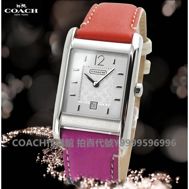 美國代購COACH 14501413【免運】長方形錶盤女錶 手錶 14501414 14501415