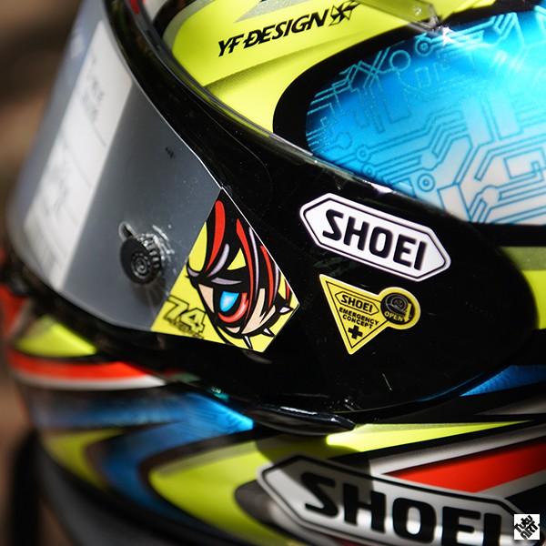 SHOEI加藤DAIJIRO X12X14競技鏡片膜貼紙頭盔反光貼