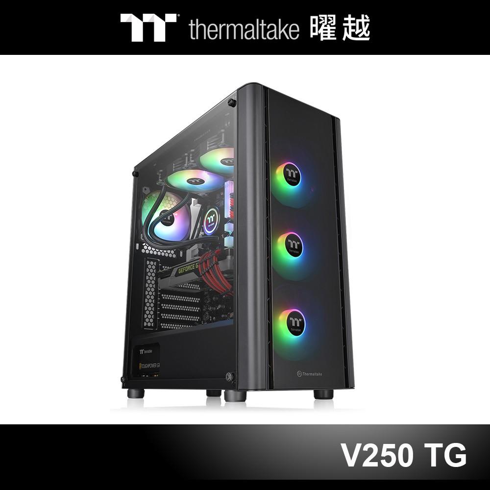 曜越 V250 TG ARGB 強化玻璃 中直立式 機殼 CA-1Q5-00M1WN-00