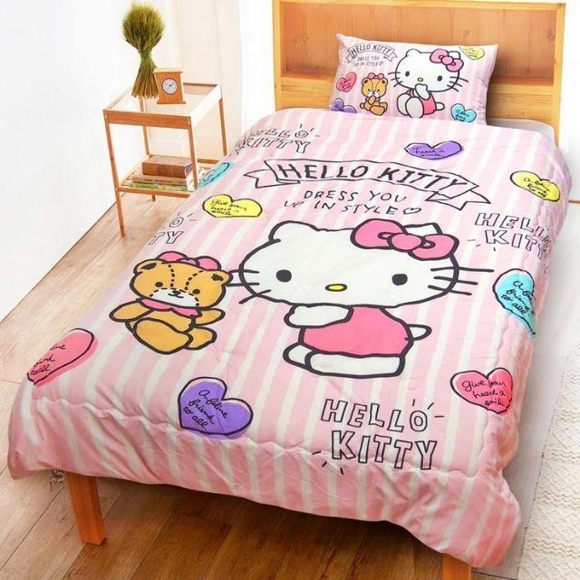 🙋免運可刷卡  好市多舒柔水洗被 150 x 200 公分 - Hello Kitty