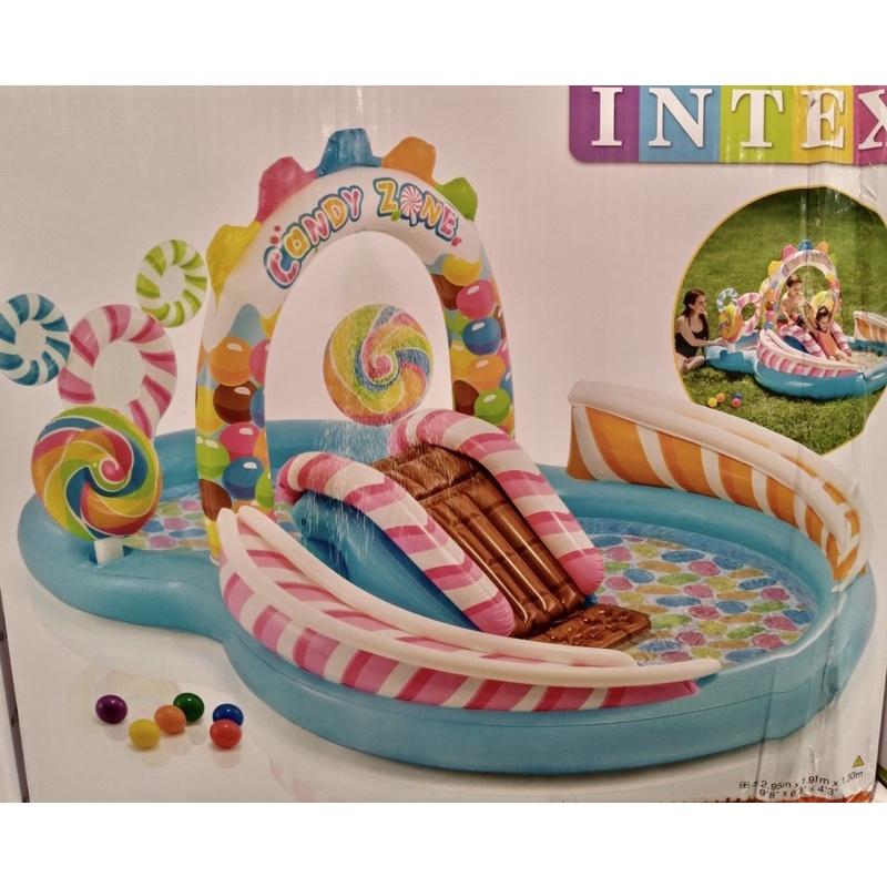 正版intex costco  二手 糖果溜滑梯兒童 戲水池 泳池