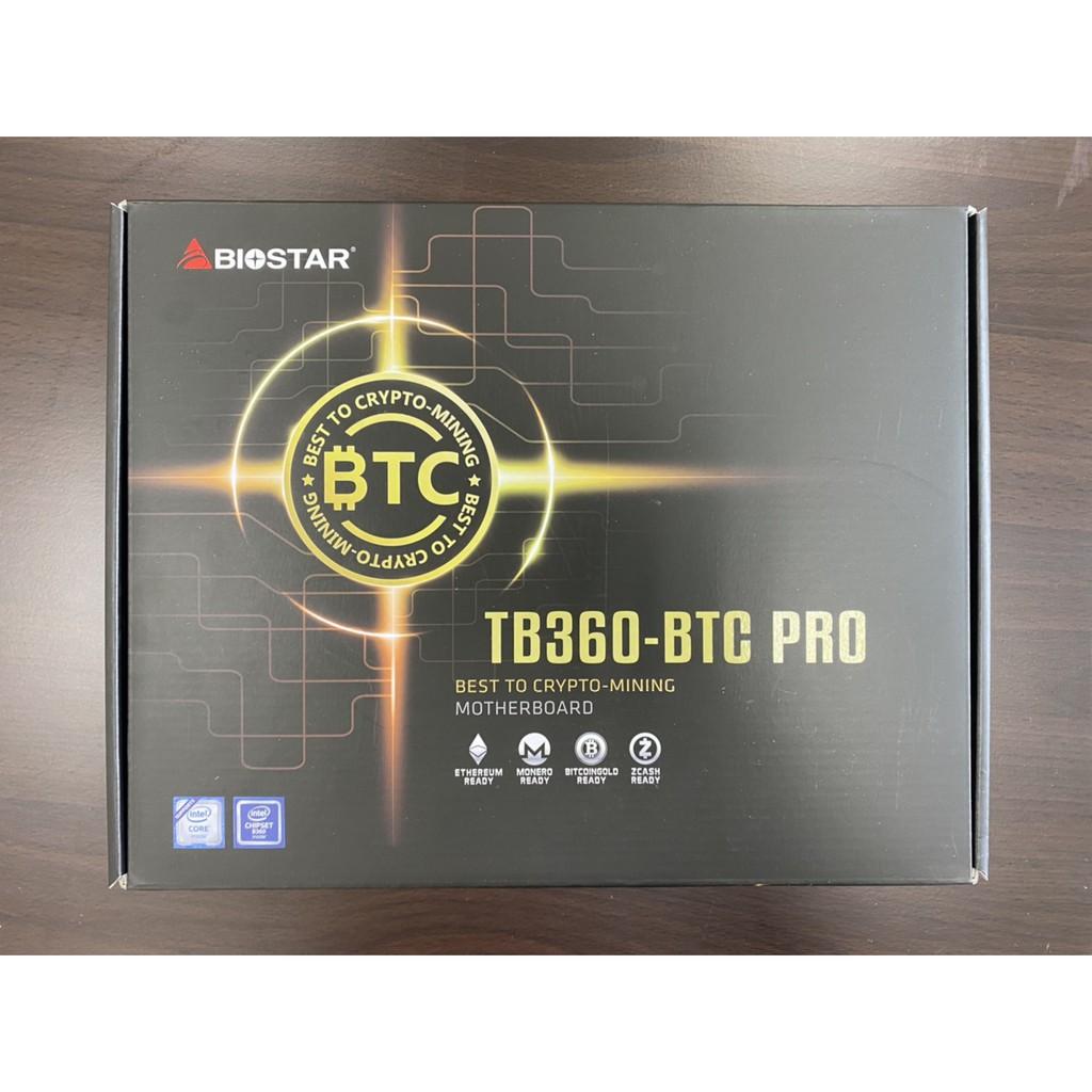 映泰Biostar TB360-BTC PRO 12卡挖礦主板 全新品未拆封