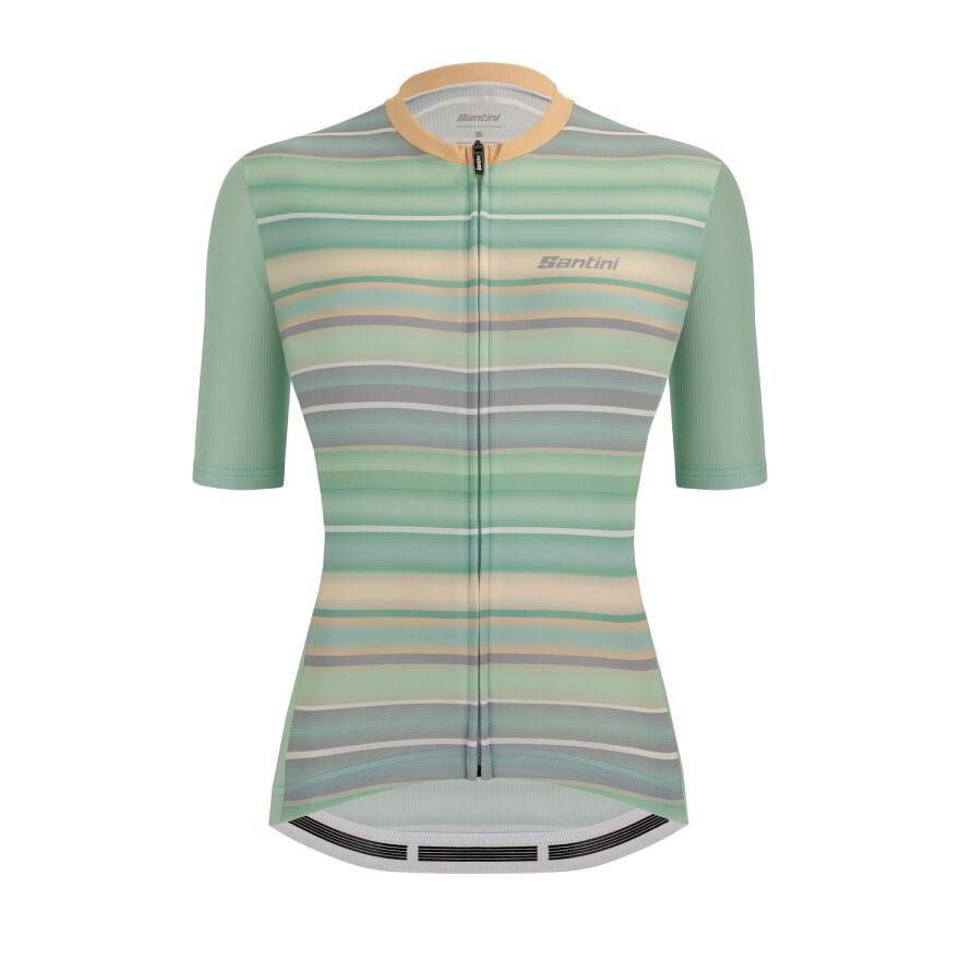 2021 Santini 【新大陸】女性短袖車衣-水綠