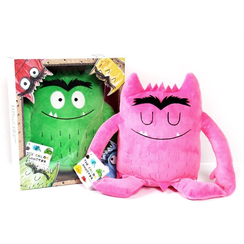 The Color Monster3D立體書我的情緒小怪獸配套公仔毛絨玩具套裝
