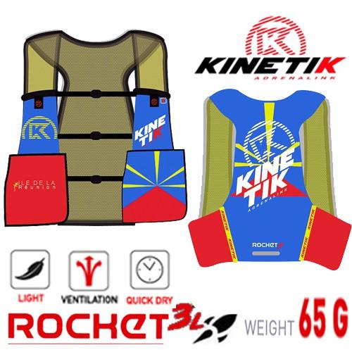 【法國KINETIK】ROCKRE 3 L水袋背心-史上最輕量65G/越野跑/水袋背包/越野背包/馬拉松背心包