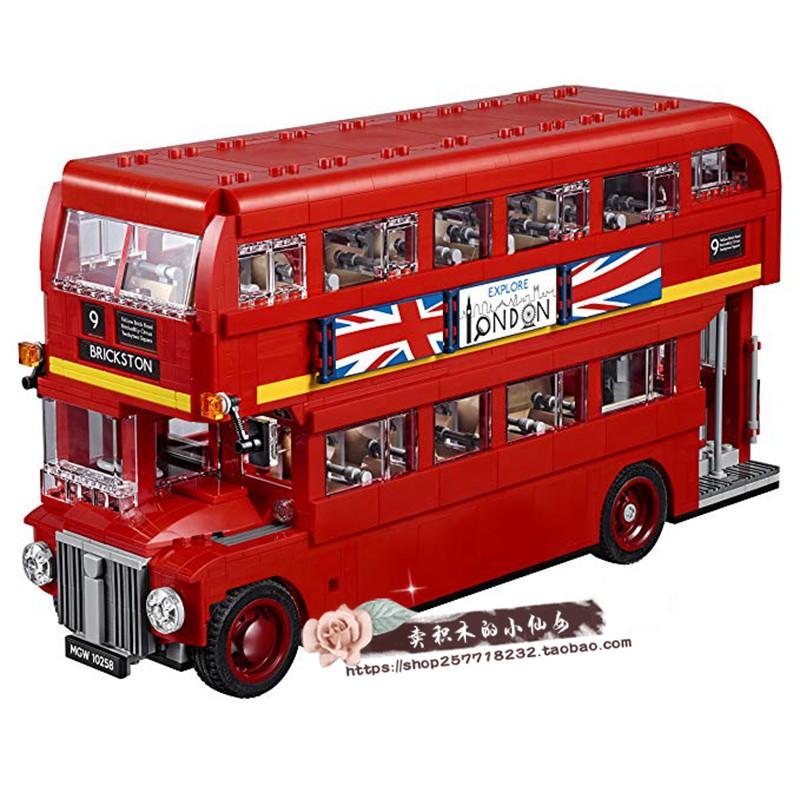 現貨···LEGO樂高10258倫敦雙層巴士 積木玩具經典汽車雙層巴士公交車包郵