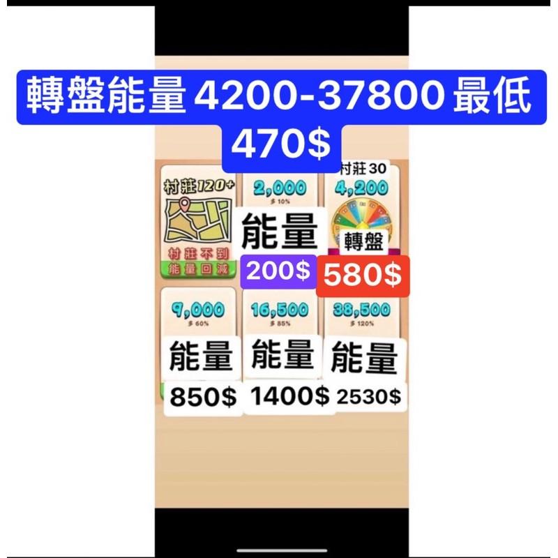 coin master 直購能量 轉盤4200-37800能量 (須帳密)