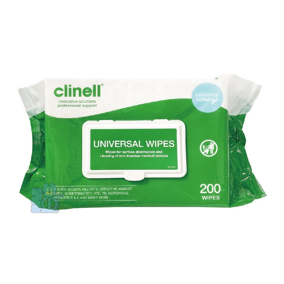 clinell 克立寧 抗菌濕巾 200抽 CW200 無酒精 蘆薈成份 消毒 抗菌 殺菌 醫療器械消毒