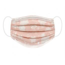 台灣製 丰荷兒童醫用口罩 粉紅雪花 成人 兒童 現貨 【HEYA】