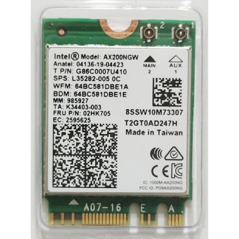 Intel AX200 003版 AX210 WiFi6 6E藍牙5.1 2.4G 5G 6G 筆記型電腦無線網路卡