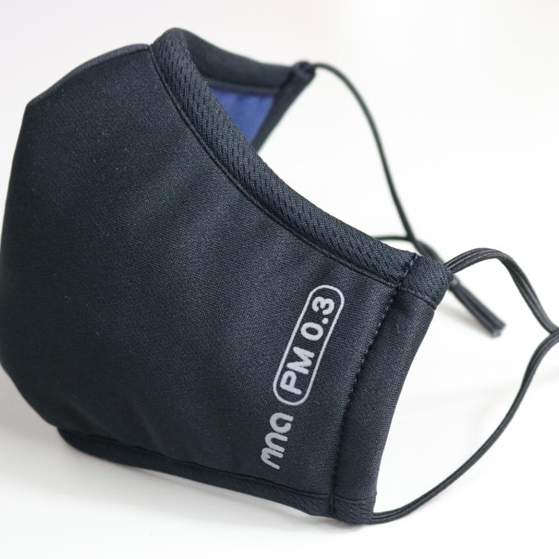 【肺常新鮮mnaPM0.3】高效防護口罩/黑藍色M