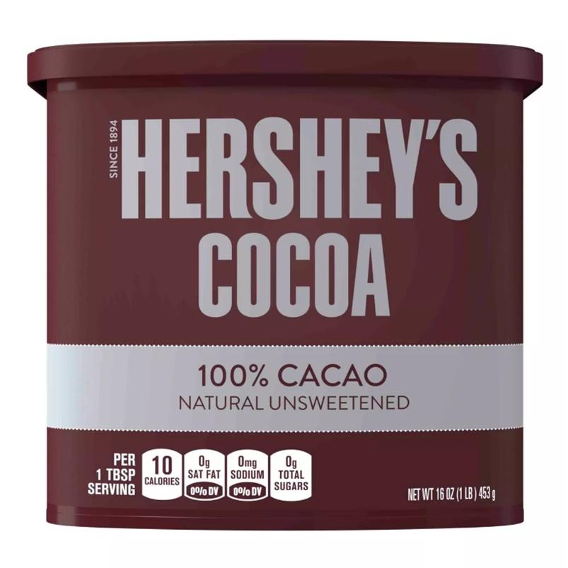 Hershey's 可可粉  (無添加糖) 巧克力粉 453克/226克【Sunny Buy】