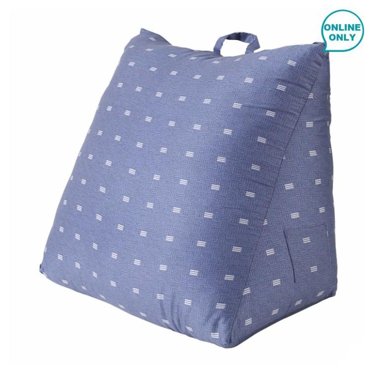 《好市多線上購物》CASA 100%天絲布套三角靠墊 55 x 50 x 60 x 30 公分 - 落塵