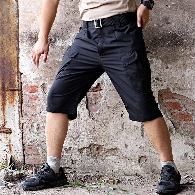 戰術褲短褲男夏迷彩特種兵作訓褲七分工裝褲軍迷戶外速干五分褲