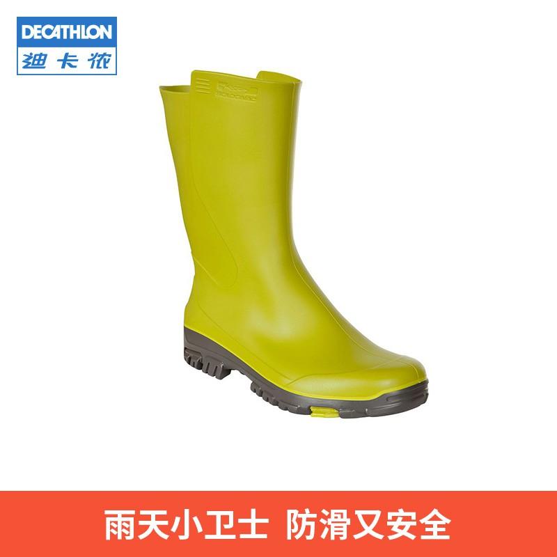 【雨鞋】迪卡儂旗艦店 防滑兒童雨鞋男童水鞋雨靴女小學生膠鞋可愛輕便OVH