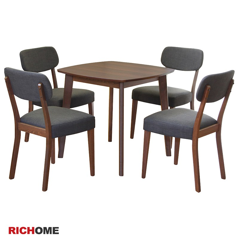 RICHOME   TA318WN+CH1225  艾咪餐桌椅組  (一桌四椅) 餐桌 餐桌椅 brunch 餐廳 廚房