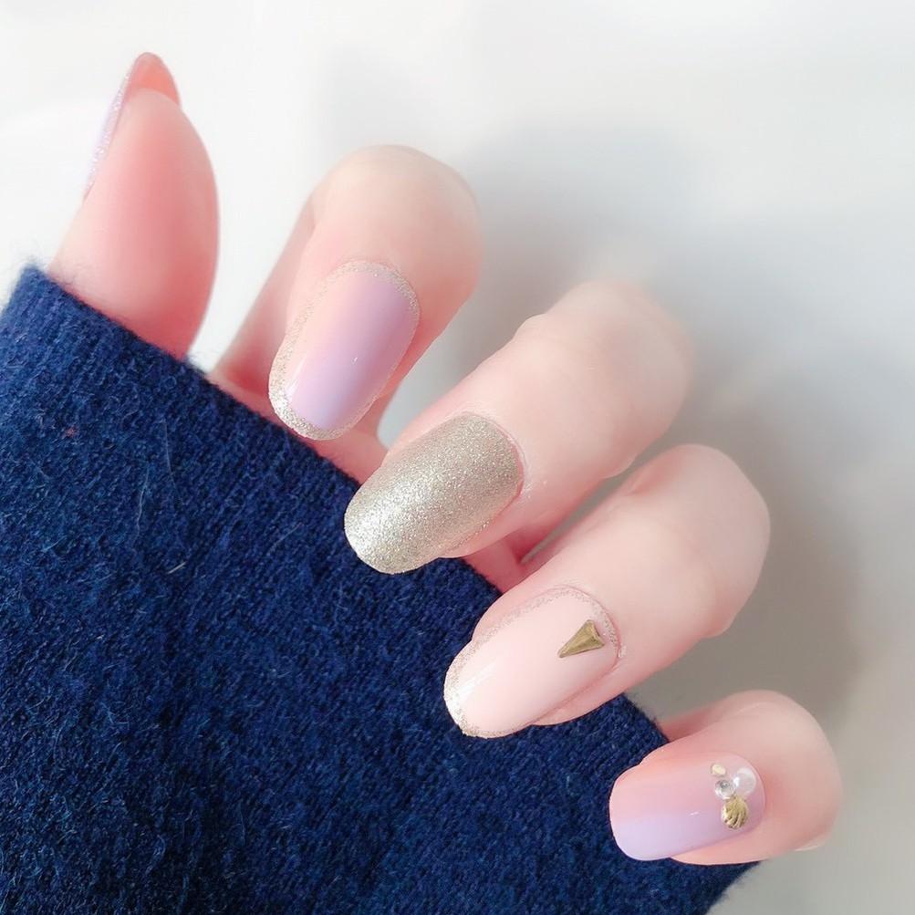 指甲貼片 NJ088 20片裝美甲成品甲片3D鑲鑽假指甲超薄日系指甲片【買1送5配件】