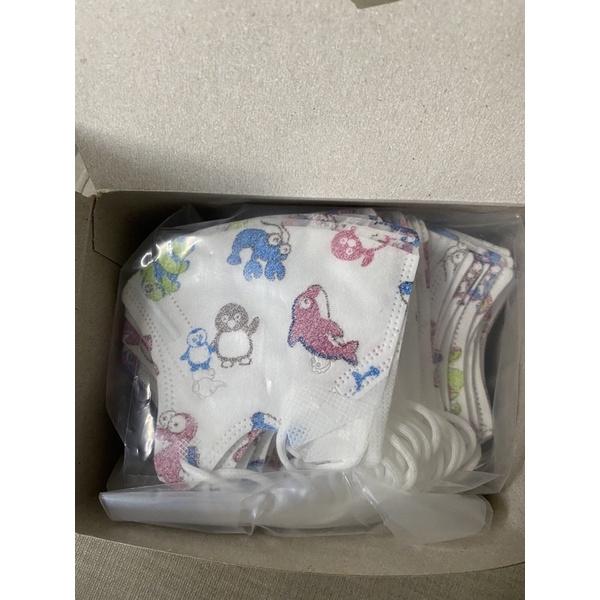 宅配免運 淨新 立體幼幼口罩 50入裝 拋棄式口罩  (2-5歲)兒童口罩 立體耳繩口罩